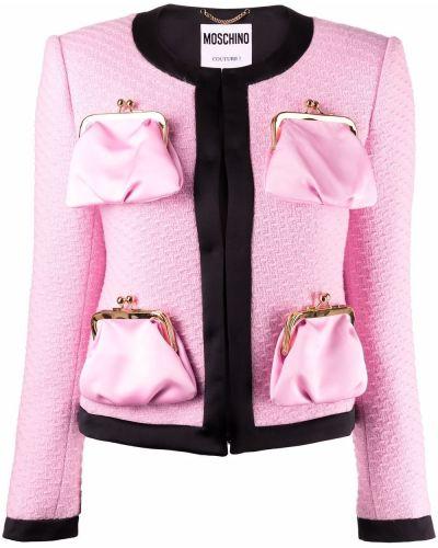 Розовая куртка с карманами Moschino