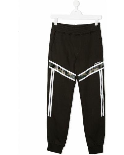 Брючные черные брюки с карманами с манжетами Neil Barrett Kids