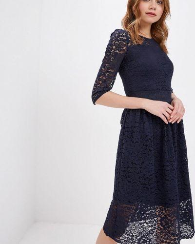 Вечернее платье весеннее синее Zarina