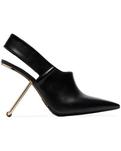 Черные туфли с ремешком Poiret