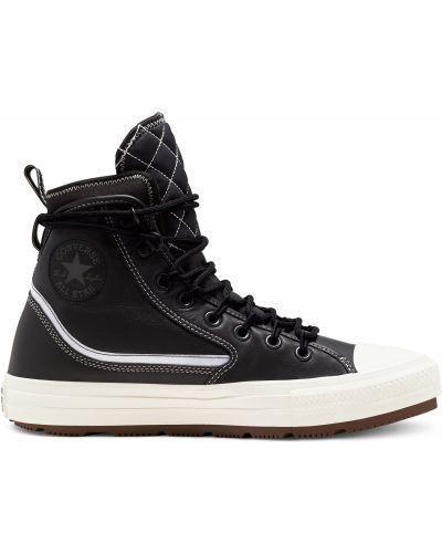 Кожаный топ - черный Converse