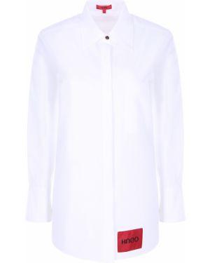 Рубашка с карманами - белая Hugo Boss