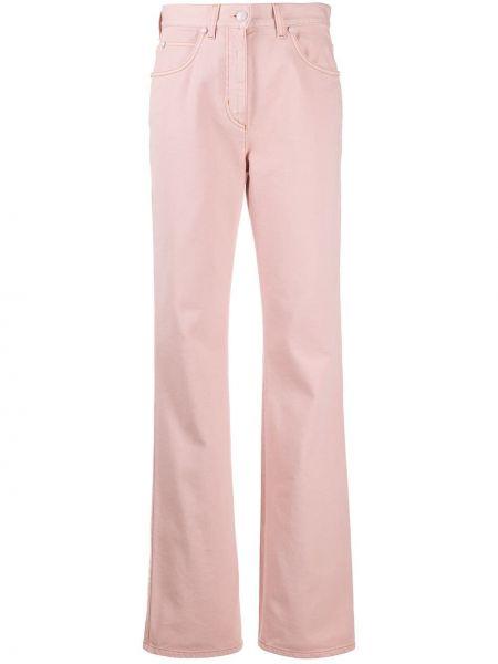 Klasyczny jeansy o prostym kroju różowy Fendi
