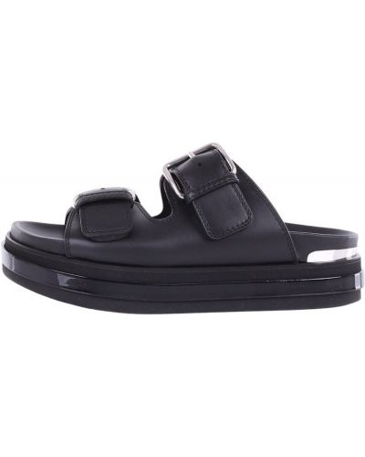Czarne sandały Alexander Mcqueen
