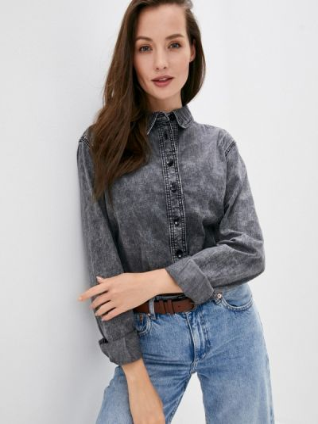 Серая джинсовая рубашка Twist & Tango