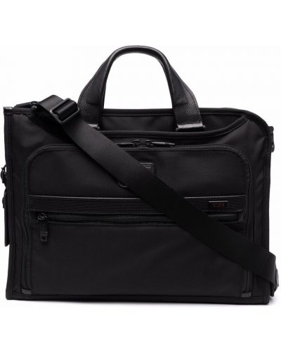 Czarna torebka skórzana Tumi