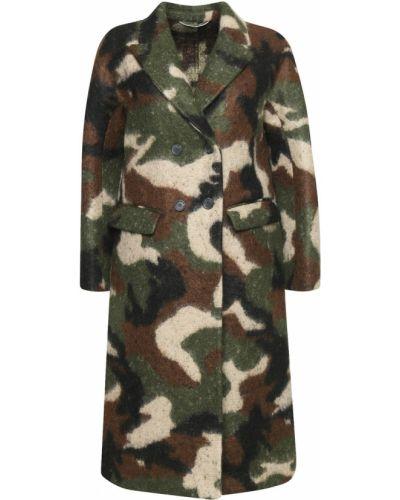 Пальто шерстяное камуфляжное Ermanno Scervino