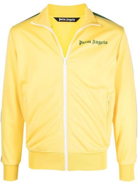 Klasyczna żółta długa kurtka z długimi rękawami Palm Angels