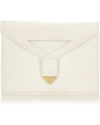 Kopertówka skórzana - biała Saint Laurent Vintage