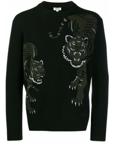 Sweter - czarny Kenzo