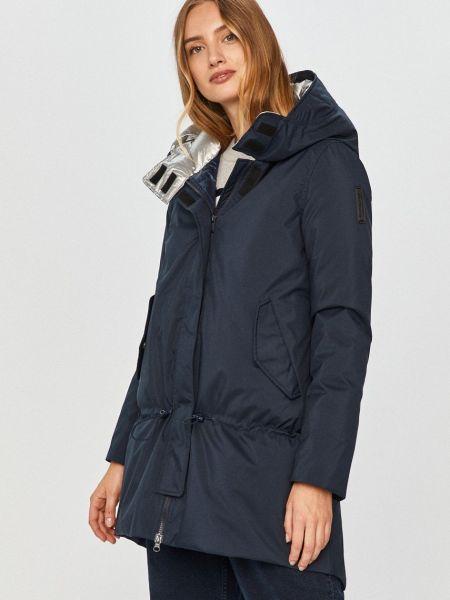 Пуховая синяя куртка с капюшоном Bomboogie