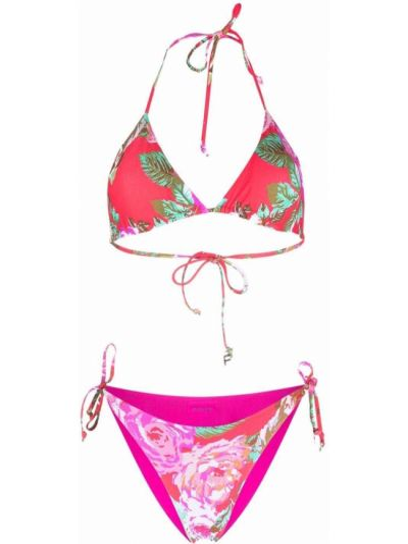 Różowy bikini z printem Fisico