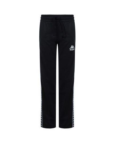 Прямые компрессионные спортивные черные брюки Kappa