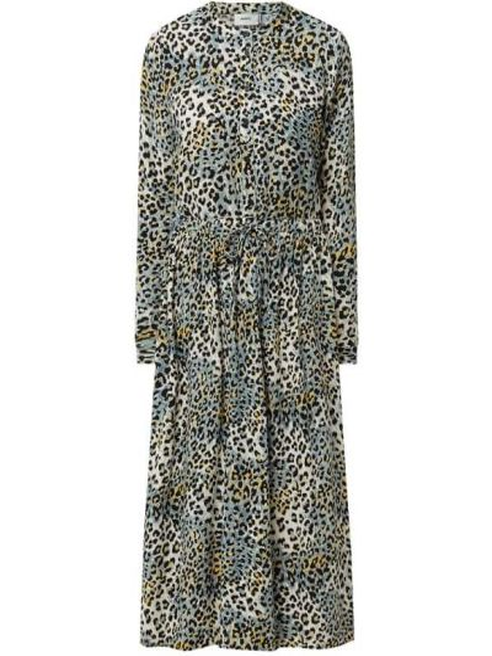 Niebieska sukienka mini rozkloszowana z wiskozy Moves