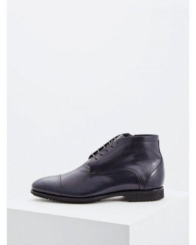 Кожаные ботинки осенние высокие Fabi
