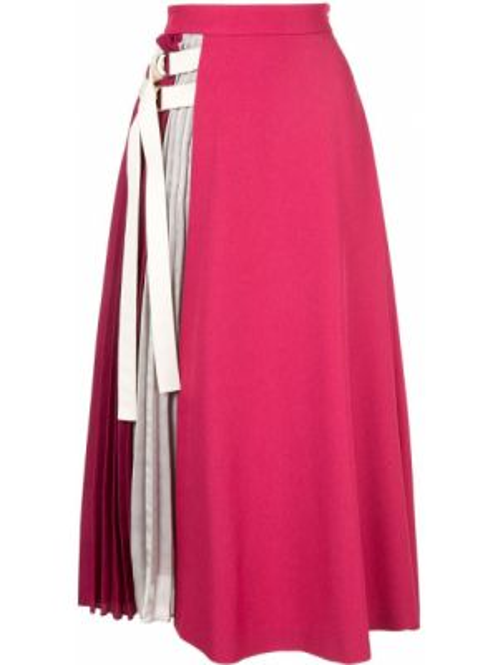 Расклешенная розовая юбка Guild Prime