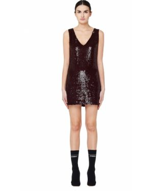 Платье мини короткое - бордовое Ashish