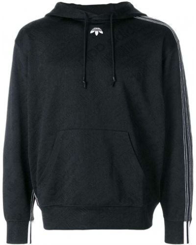 Толстовка с капюшоном в полоску с заплатками Adidas Originals By Alexander Wang