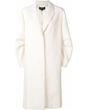 Однобортное шерстяное пальто с капюшоном Paule Ka
