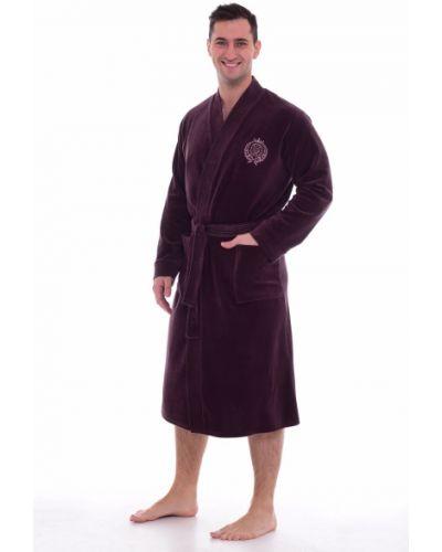 Велюровый домашний халат с вышивкой новое кимоно