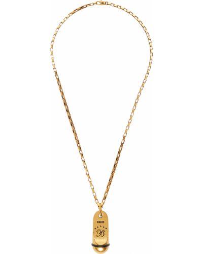 Złoty naszyjnik łańcuch Balenciaga