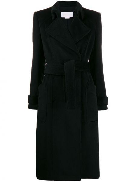 Klasyczny czarny płaszcz wełniany Genny