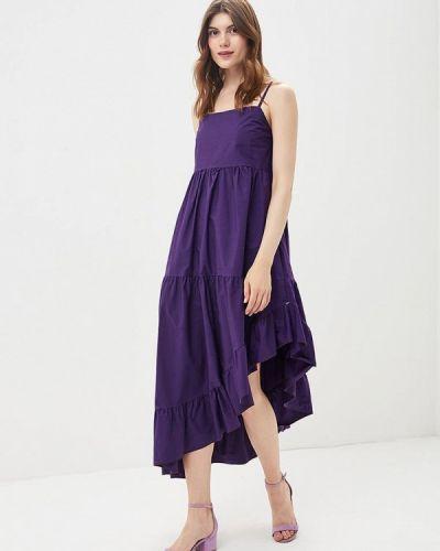 Фиолетовое платье с открытыми плечами Imperial