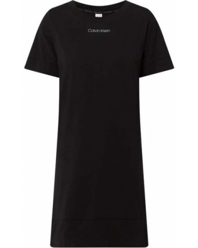 Czarna koszula nocna bawełniana krótki rękaw Calvin Klein Underwear