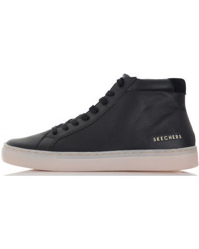 Черные высокие кеды Skechers