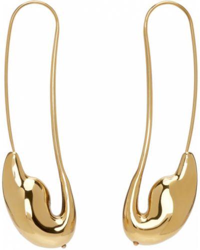Серьги-гвоздики золотые винтажные Chloé
