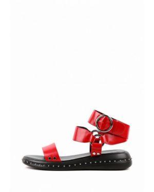 Красные кожаные сандалии Leberdes