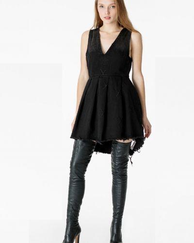 Джинсовое платье - черное Oneteaspoon