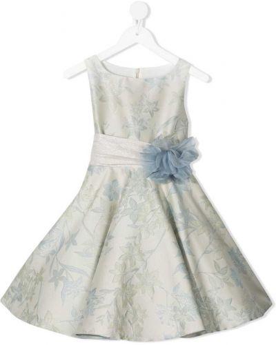 Sukienka wieczorowa w kwiaty - zielona La Stupenderia