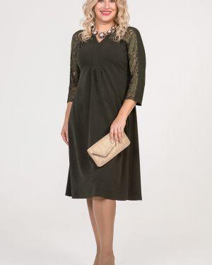 Свободное плиссированное вечернее платье с люрексом с вырезом Luxury