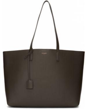 Кожаная сумка шоппер сумка-тоут Saint Laurent