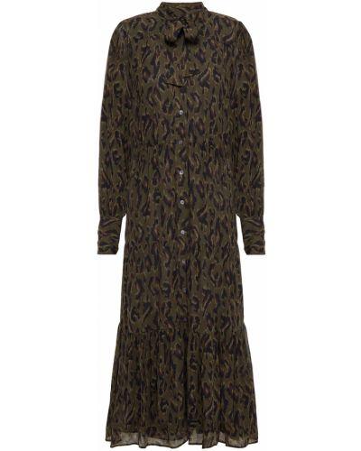 Зеленое платье миди с подкладкой из крепа Derek Lam 10 Crosby