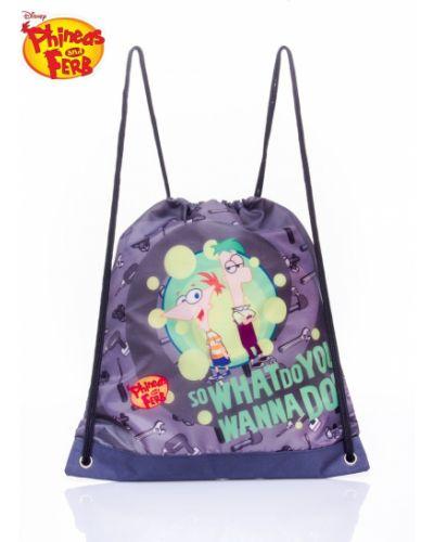 Szary sport plecak szkolny materiałowy Fashionhunters
