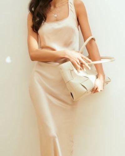 Повседневное белое платье миди в горошек Love Republic