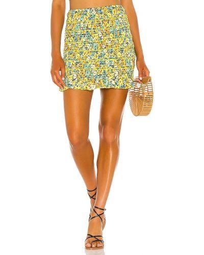 Żółta spódnica na plażę z wiskozy L*space
