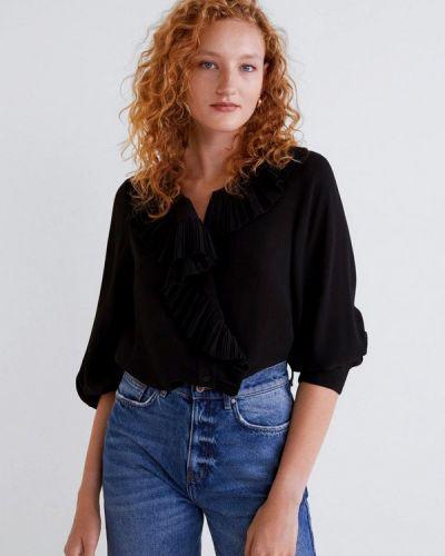 Блузка с длинным рукавом черный Mango