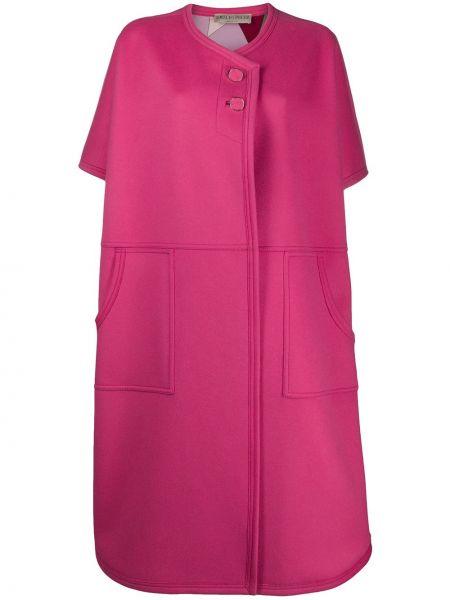 Розовое шерстяное пальто оверсайз Emilio Pucci