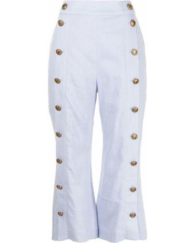 Spodnie z wysokim stanem - niebieski Zimmermann