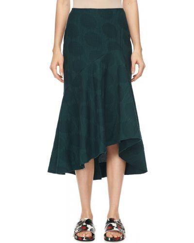 Хлопковая юбка миди - зеленая Cédric Charlier
