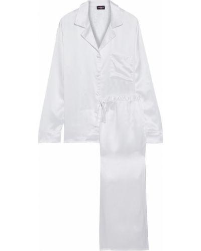 Biała satynowa piżama koronkowa Cosabella
