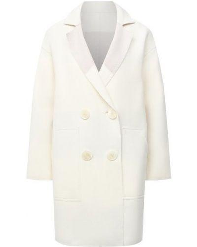 Бежевое шерстяное пальто Lorena Antoniazzi
