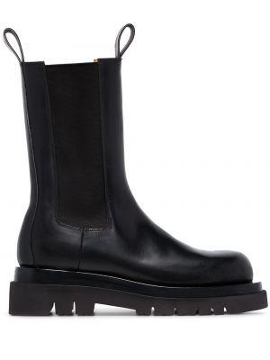 Кожаные черные ботинки челси матовые Bottega Veneta