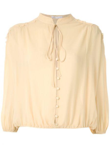 Блузка с воротником-стойкой с манжетами НК