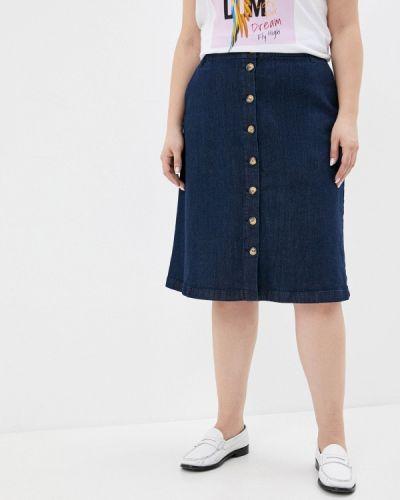 Синяя джинсовая юбка Ulla Popken