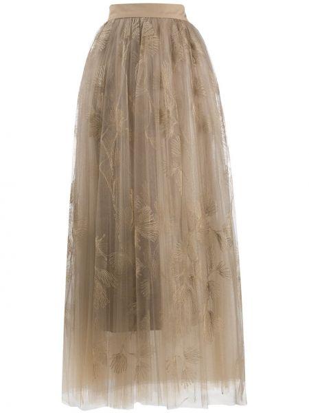 Юбка с завышенной талией многоярусная Brunello Cucinelli