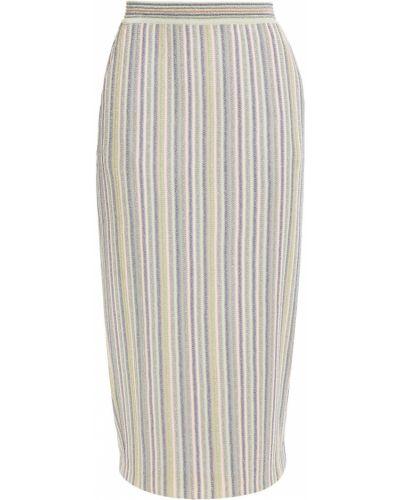 Вязаная юбка миди в полоску металлическая Missoni